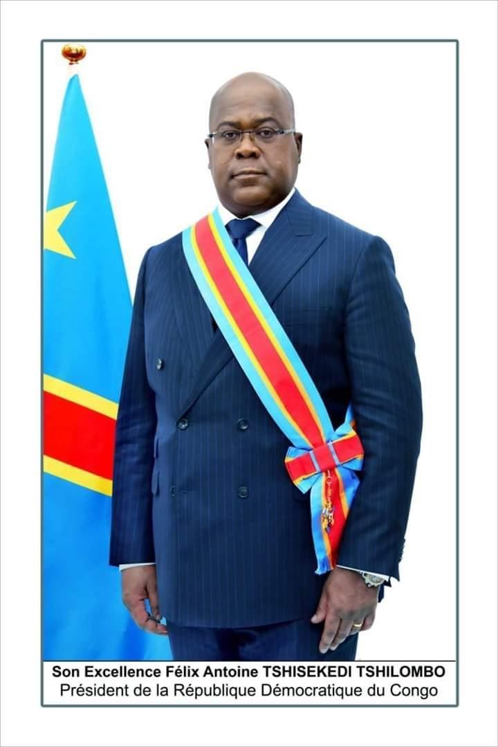 Official portrait of Félix Tshisekedi